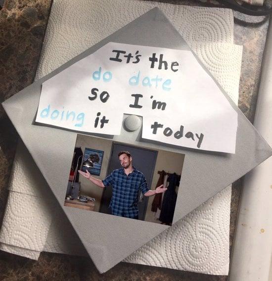 it's the dd date so i'm doing it today grad cap idea