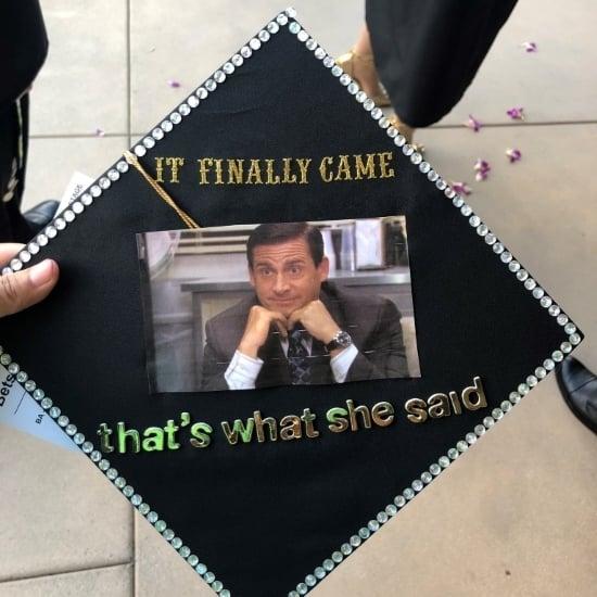 the office quote quick simple grad cap idea