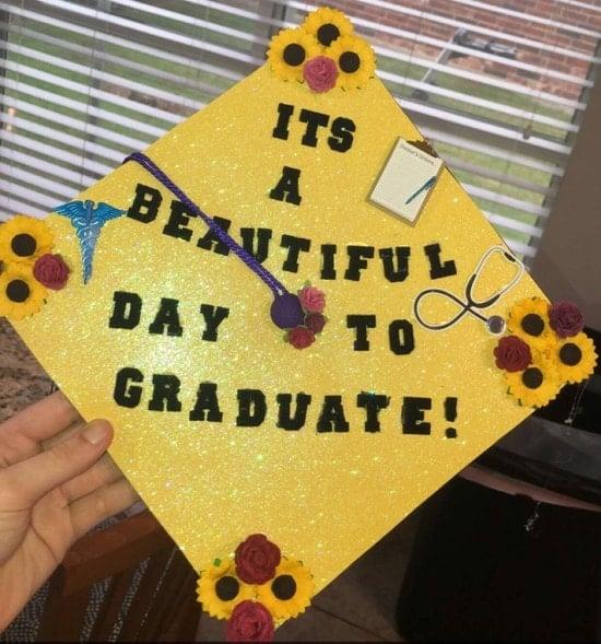 grey's anatomy quote nurse graduation cap decoration
