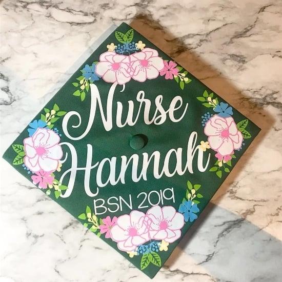 BSN nurse grad cap example 4