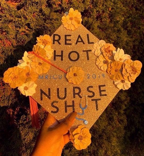 "grad cap ""real hot shit nurse MRICU"""