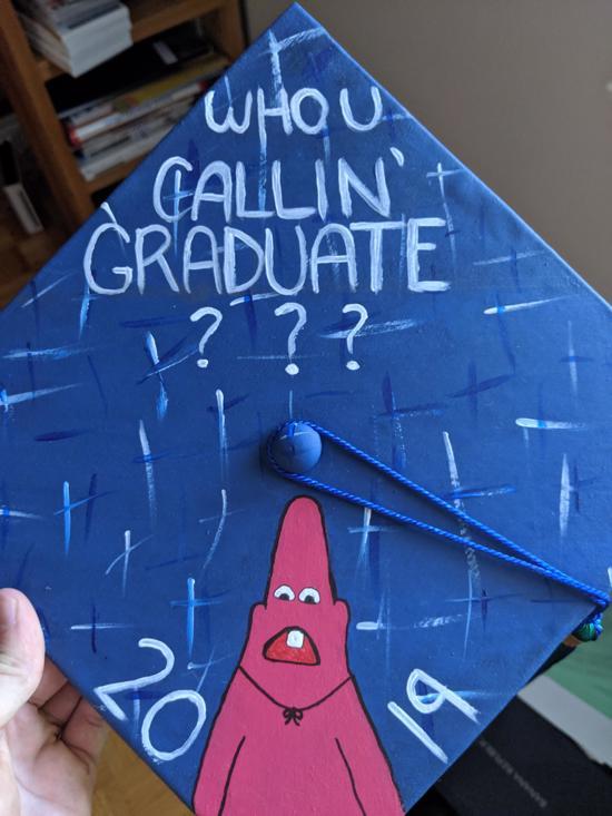 who you callin' graduate?? Pinhead Patrick grad hat idea