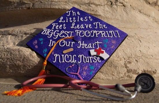 NICU nursing graduation cap idea example