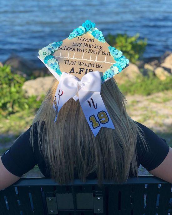 A.fib nurse graduation cap funny pun