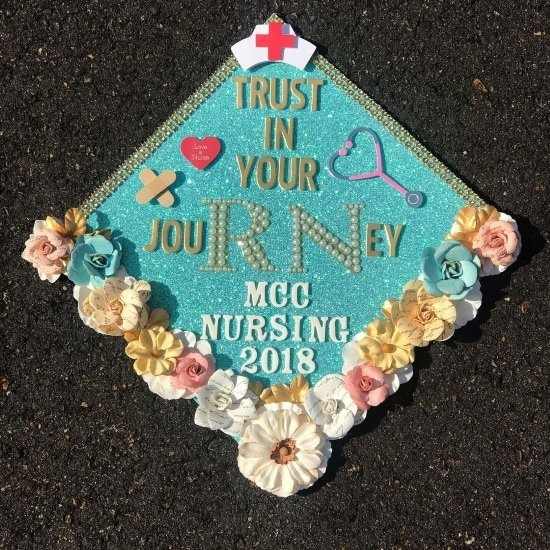 mcc nursing cap decoration idea for graduation