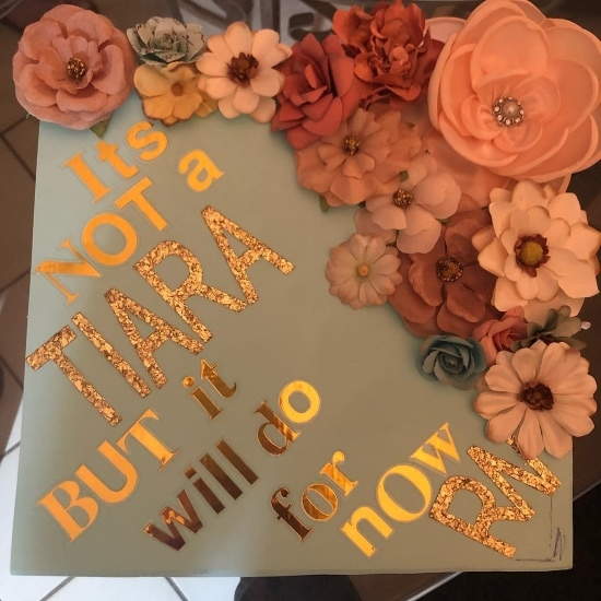 not a tiara but it will do for now RN student graduation cap