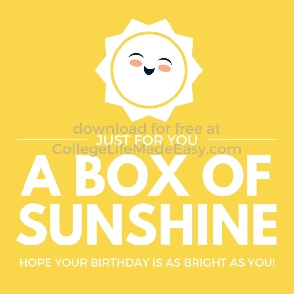 sunshine printable example 3