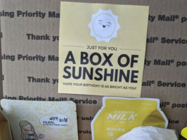 free sunshine printable for care package gift