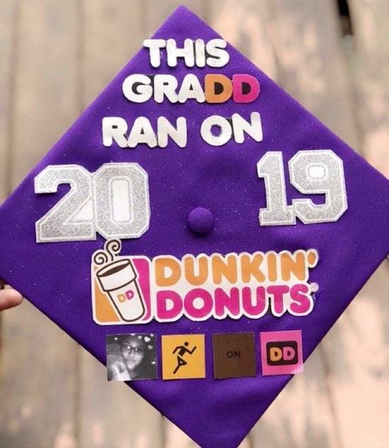 last minute dunkin' donuts grad cap design