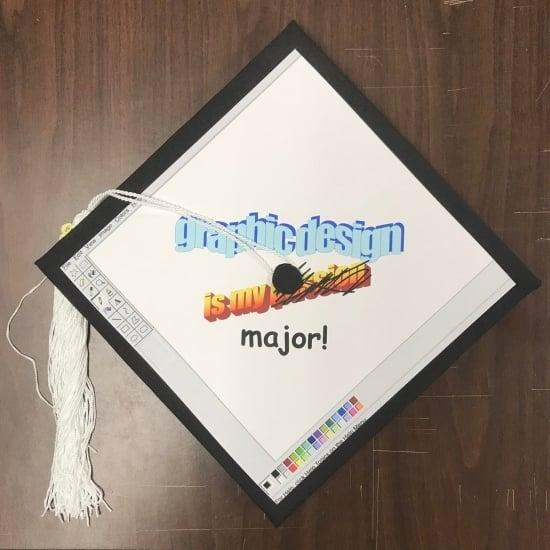 last minute graphic design major graduation cap design