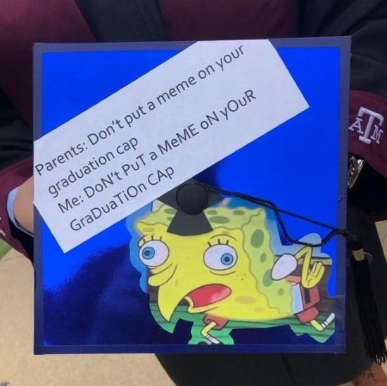 mocking spongebob meme simple cap decoration