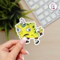 funny mocking Spongebob meme sticker