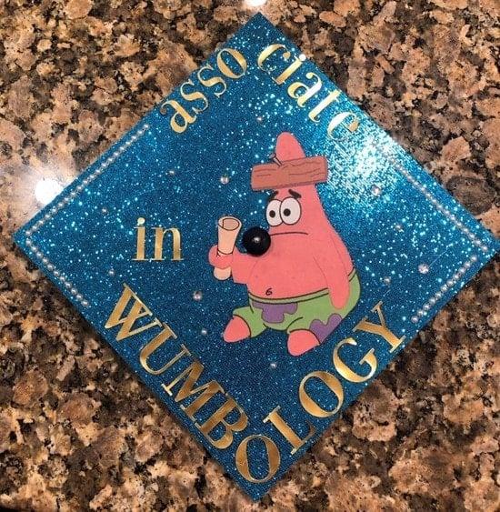 associate degree in wumbology graduation hat decoration