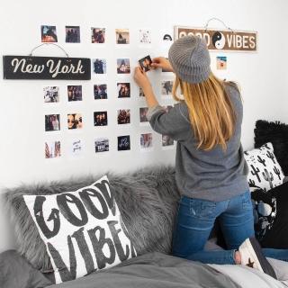 Dry Erase Polaroid Frame Decal Set, safe for dorm room walls, from Dormify