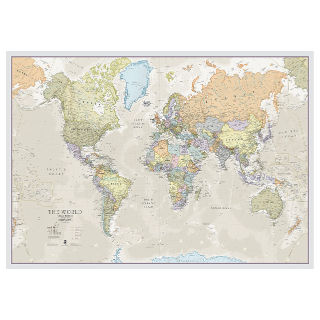 classic style world map poster wall decor