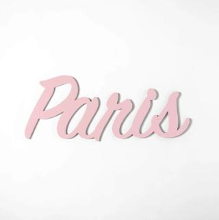 "Custom Handwriting Wooden Name Sign in light pink (name spells ""Paris"")"
