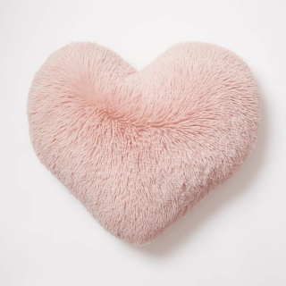 Faux Fur Heart Pillow from Dormify