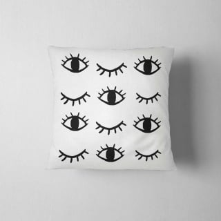 eyes and lashes throw pillow