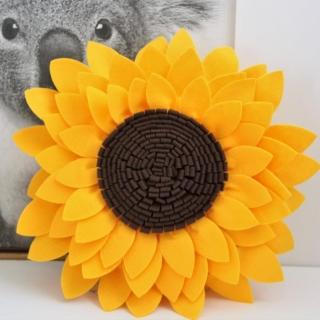 decorative sunflower shaped throw pillow