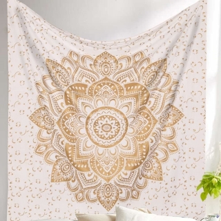 gold mandala design gold wall tapestry