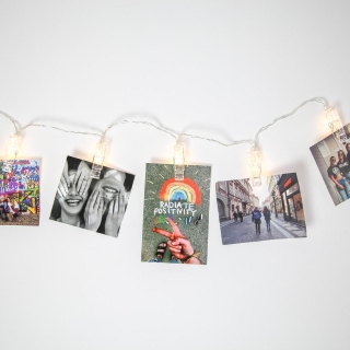 Battery Powered Clip String Lights from Dormify