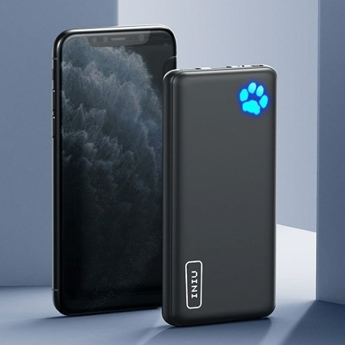 college graduation gifts for him idea - thin black powerbank next to phone