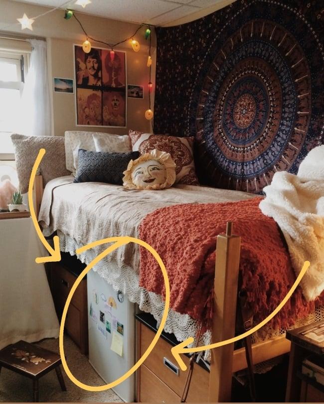 Best Mini Fridge With Freezer For Dorms, Mini Fridge Cabinet For Dorm Room