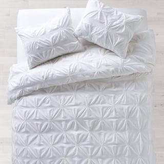 white soft loft duvet and sham set from Dormify