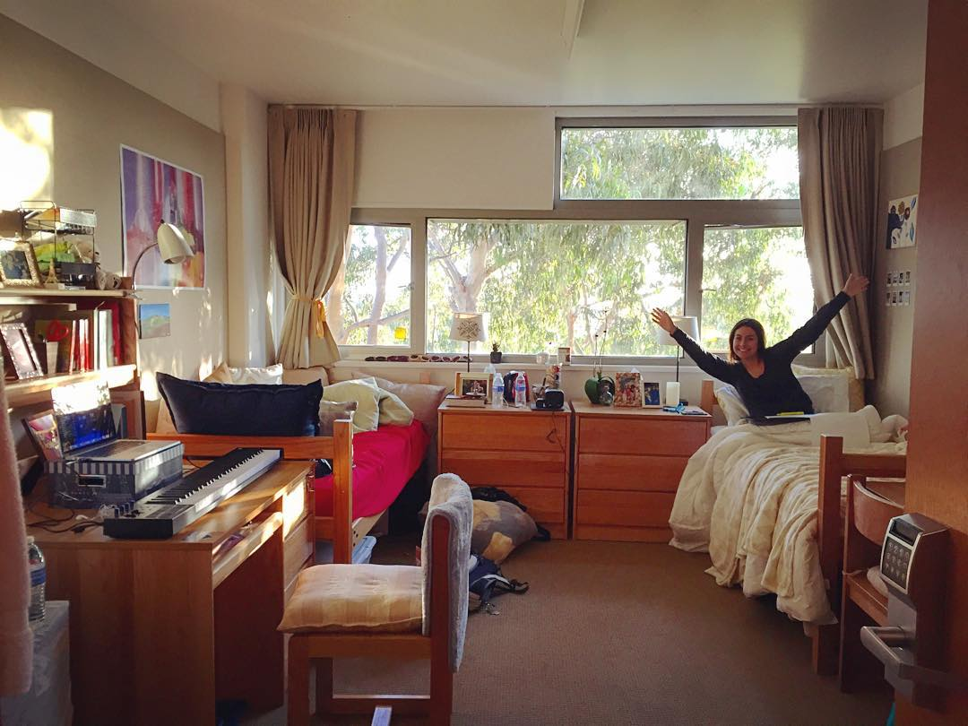 UCLA double dorm room layout