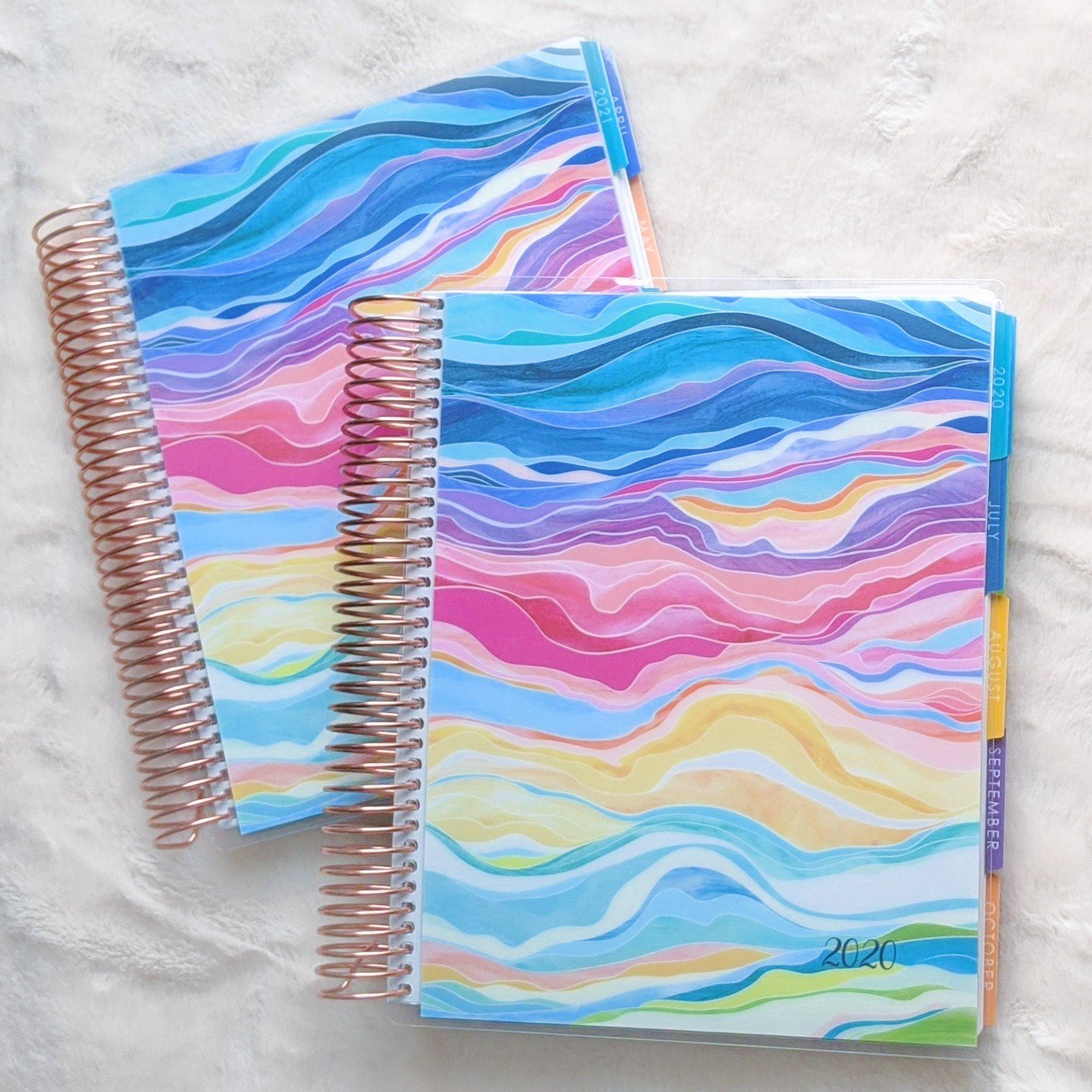 colorful layers Erin Condren Daily LifePlanner Duo set