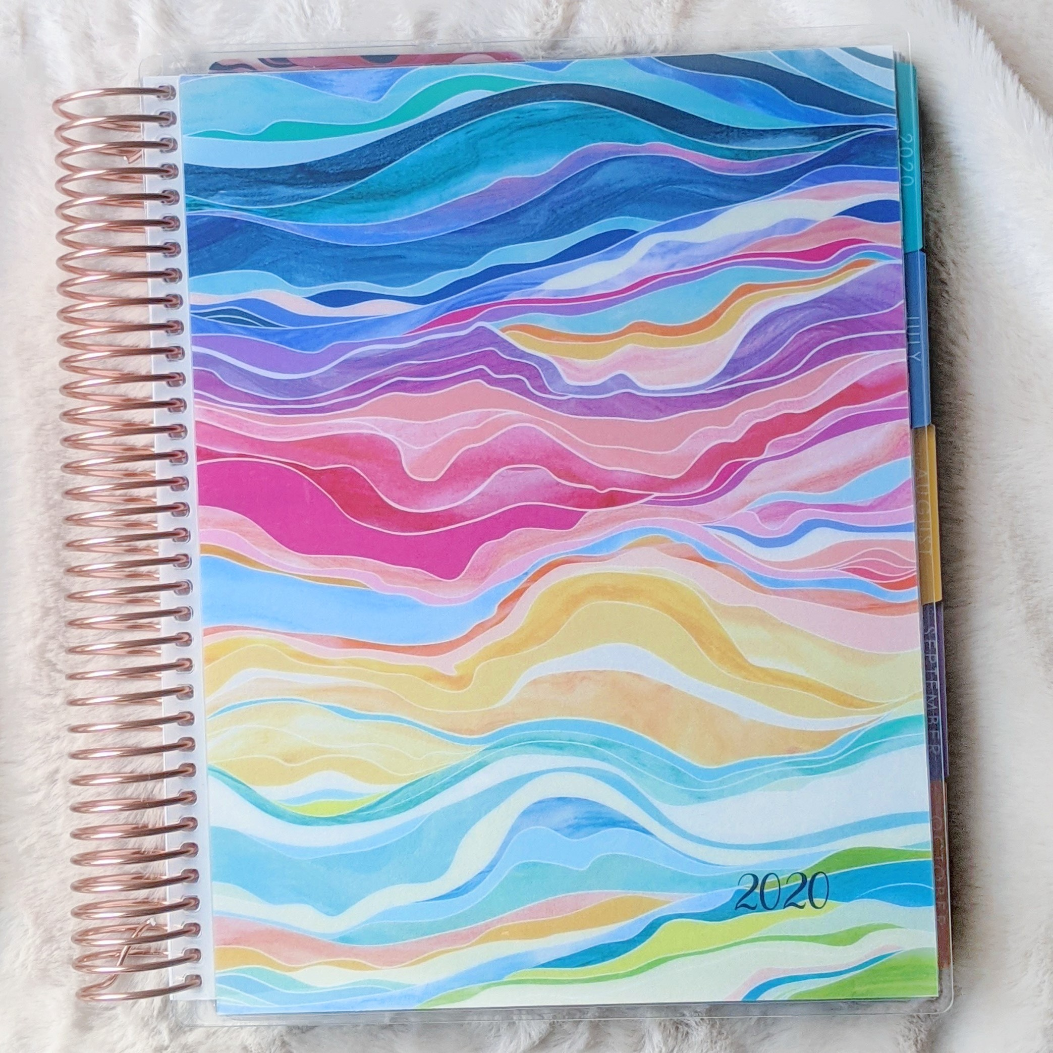 Erin Condren Daily LifePlanner in Colorful Layers cover design