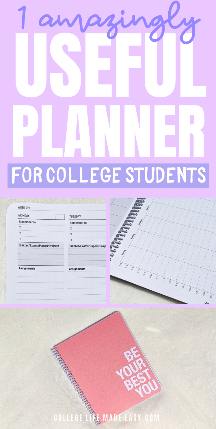 1 really good planner for college students - class tracker ultimate student planner Pinterest infographic