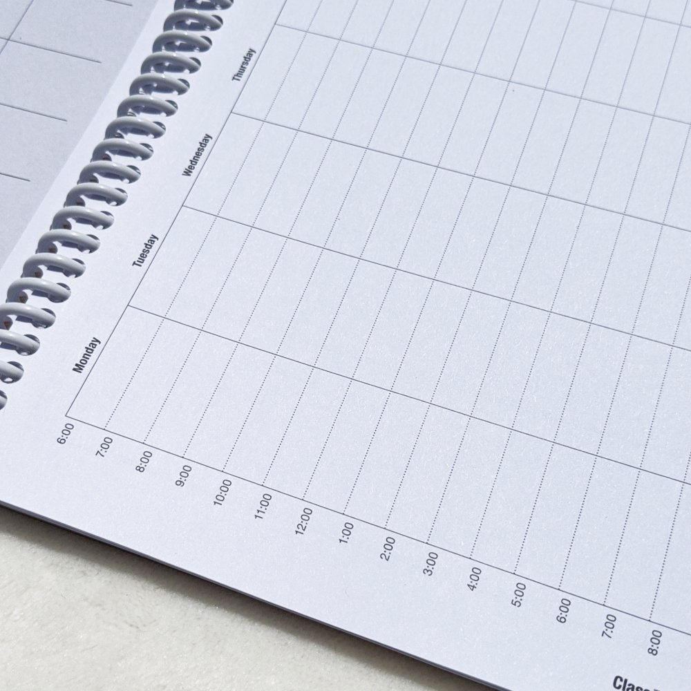 another angle of the Classtracker college schedule planning page