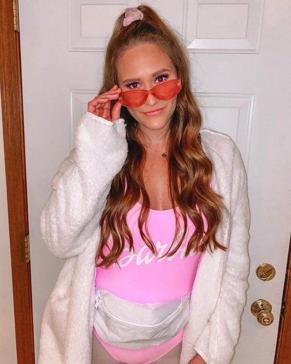example of college girl Barbie Halloween costume idea