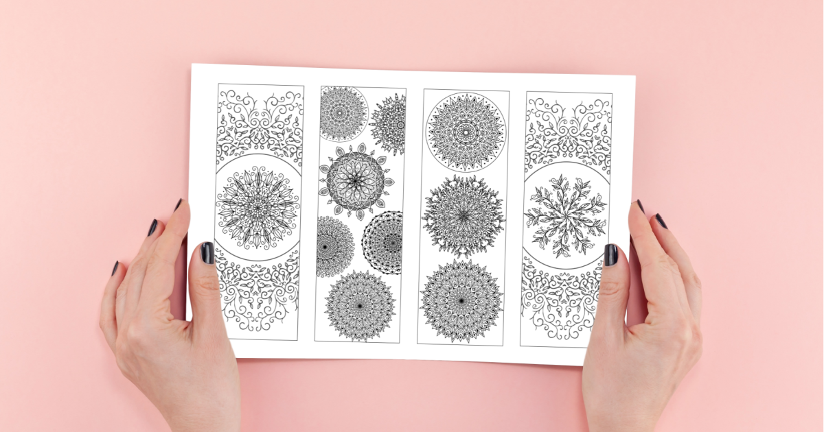 Free Printable Mandala Bookmarks: 8 Floral Inspired Designs to Color