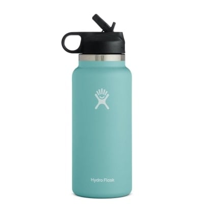 """Hydro Flask straw top water bottle in the color """"alpine"""""""