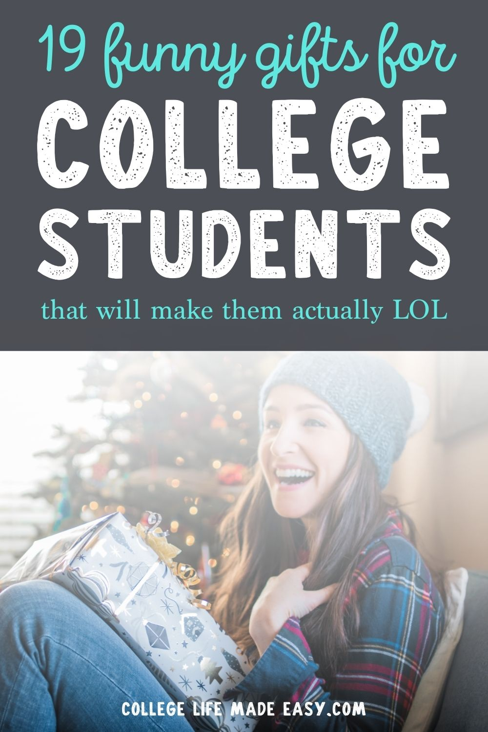 19 funny gifts for college students Pinterest infographic