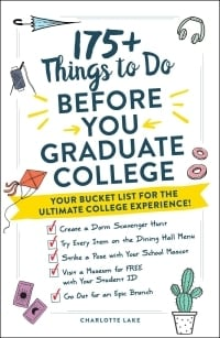 college bucket list ideas book with white cover