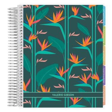 Erin Condren Academic Student Planner in Troical Garden cover design