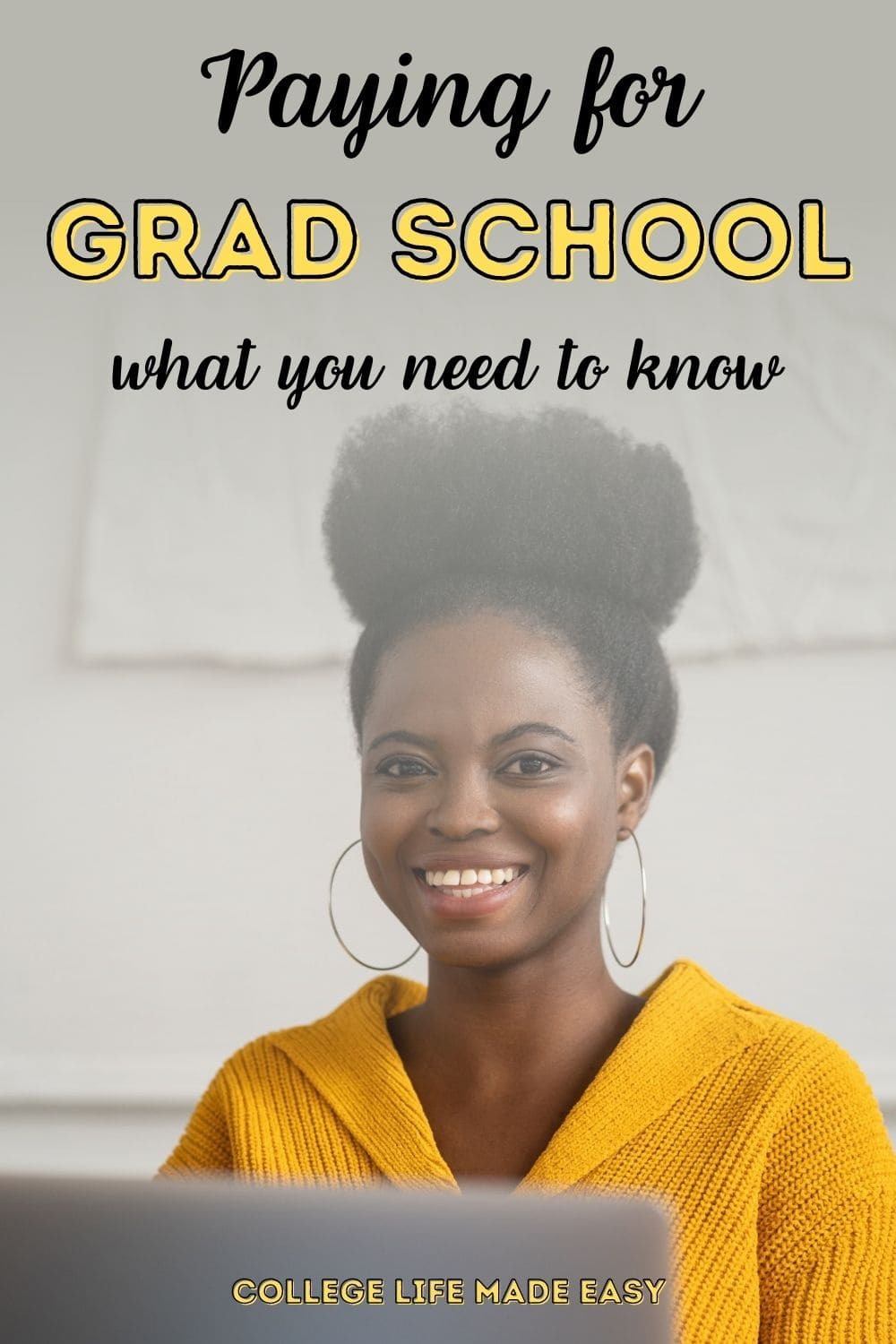 paying for grad school what you need to know infographic for Pinterest