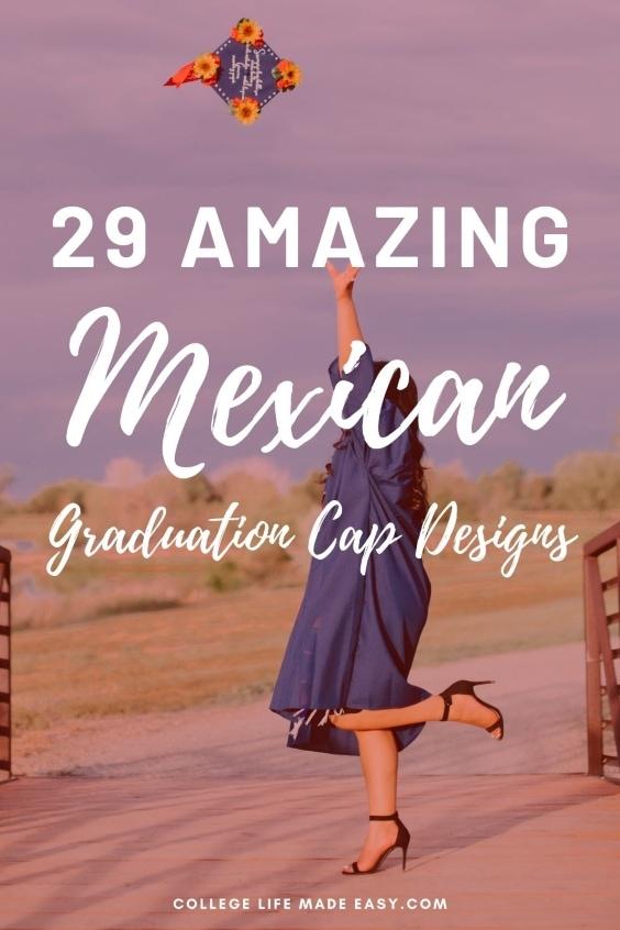 29 amazing Mexican graduation cap designs infographic for Pinterest